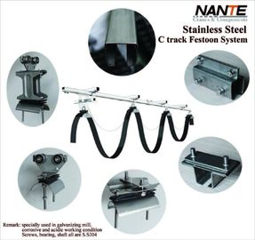 Electrification Mobile Crane Parts C Track Cable Trolley  Festoon System